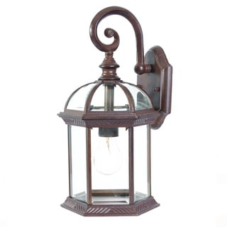 Acclaim Dover Collection 1-Light Outdoor Burled Walnut Wall Lantern