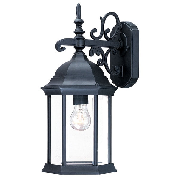 Acclaim Madison Collection 1-Light Outdoor Matte Black Wall Lantern