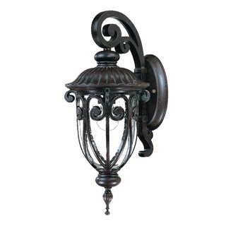 Acclaim Naples Collection 1-Light Outdoor Marbleized Mahogany Wall Light