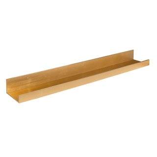 Levie Deep Wood Wall Shelf Picture Frame Ledge