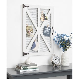 Kate and Laurel Wickett Wood Windowpane Photo Collage Clip Wall Frame