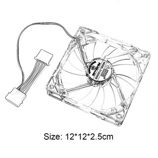 2 pieces/set 120MM High Quality Computer Cool Cooling Fan Universal Plastic Cooling Fan For Computer Laptop