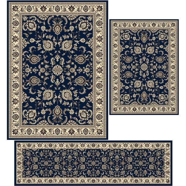 Tabriz Denim Three Piece Rug Set 3 X27 X 4