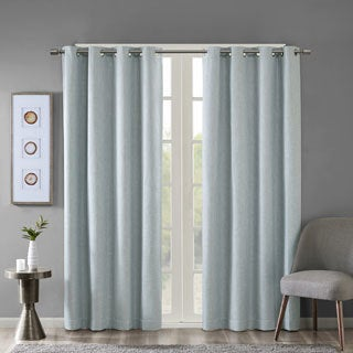 SunSmart Arlie Printed Heathered Blackout Curtain Panel