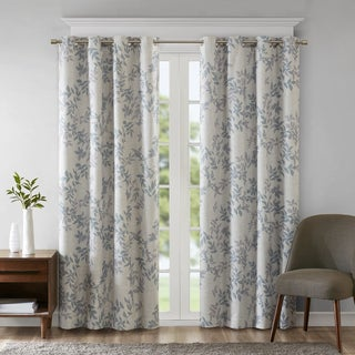 SunSmart April Printed Botanical Blackout Single Curtain Panel