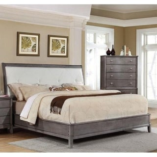LYKE Home Desi Gray Tufted Bed