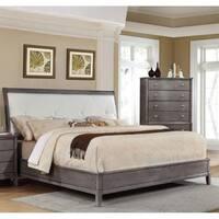 LYKE Home Desi Gray Tufted Bed
