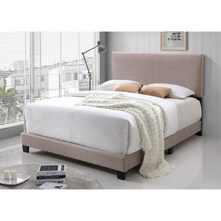 LYKE Home Jessie Cream Faux Leather Bed
