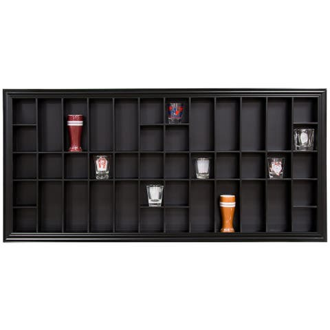 Large 35x16 Black Shot Glass Case