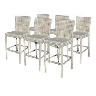 Catamaran Outdoor Patio Wicker Bar Stools (Set of 6)