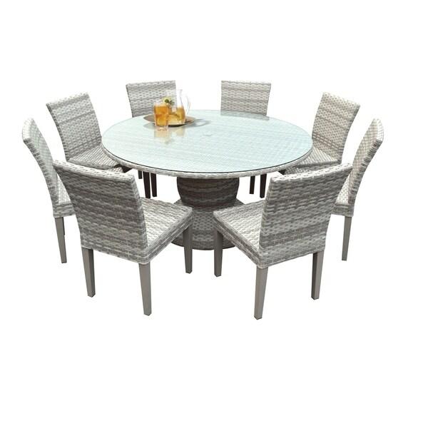 Shop Catamaran Outdoor Patio Round Wicker Dining Table