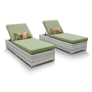 Catamaran Outdoor Patio Wicker Chaise Lounge (Set of 2)