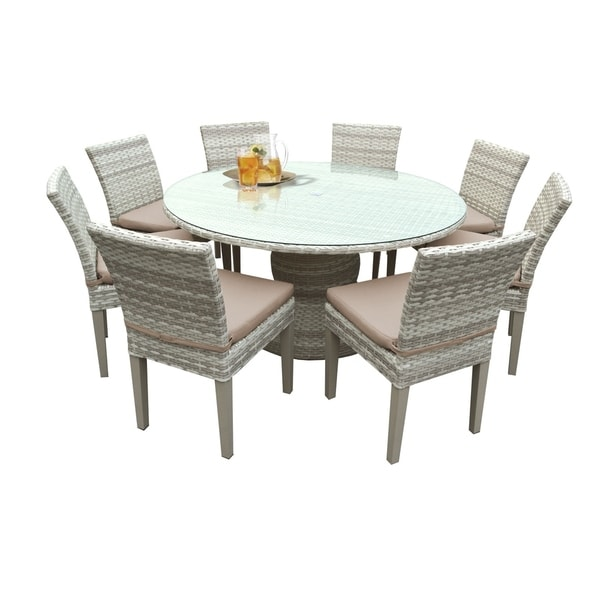 8 Seater Dining Table And Chairs: Shop Catamaran Outdoor Patio Round Wicker Dining Table And