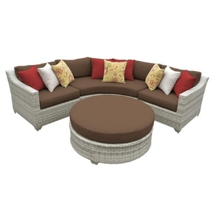 Catamaran 4-Piece Outdoor Patio Wicker Sectional and Coffee Table Set