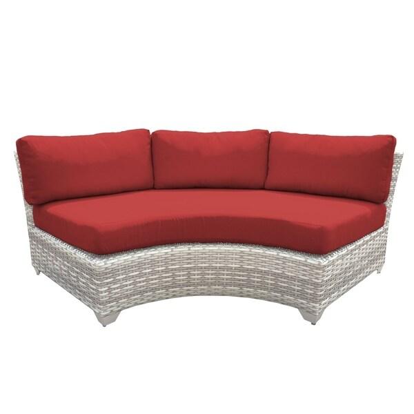 Curved Rattan Garden Sofa: Shop Catamaran Outdoor Patio Curved Wicker Sofa