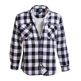 Smith's Workwear Sherpa Lined Flannel Shirt Jacket