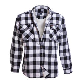 Smith's Workwear Sherpa Lined Flannel Shirt Jacket (Option: White)|https://ak1.ostkcdn.com/images/products/17803910/P23998216.jpg?impolicy=medium