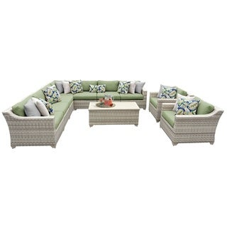 Catamaran 10-Piece Outdoor Patio Wicker Sectional Set with Arm Chairs and Storage Table