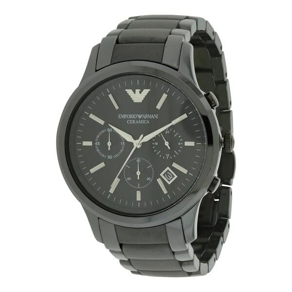 fe400e3cd Shop Emporio Armani Ceramica Chronograph Mens Watch AR1452 - Free ...