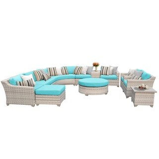 Catamaran 12-Piece Outdoor Patio Wicker Lounge Set with Coffee Table