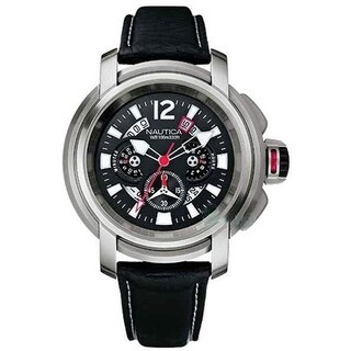 Nautica Leather Mens Watch A32513G
