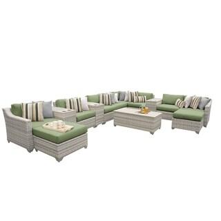 Catamaran 14-Piece Outdoor Patio Wicker Lounge Set