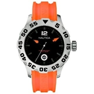 Nautica BFD 100 Orange and Men's Black Watch