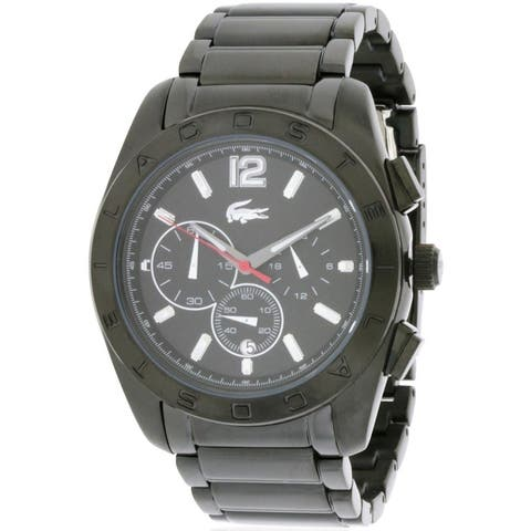 Lacoste Panama Chronograph Black Unisex Watch 2010605