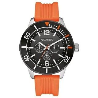 Nautica Orange Resin Mens Watch