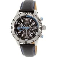 Nautica Leather Mens Watch