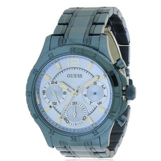 GUESS Iconic Sky Blue Stainless Steel Multi-Function Ladies Watch U0704L2