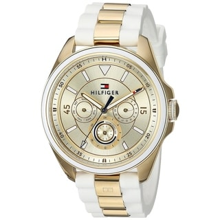 Tommy Hilfiger Gold-Tone And Silicone Ladies Watch 1781772