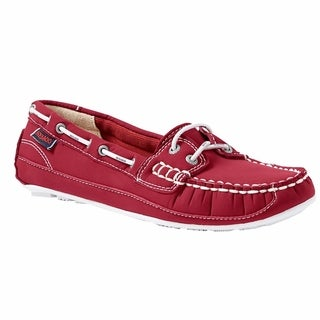 Sebago Women's Bala Boat Shoe Red Ariaprene