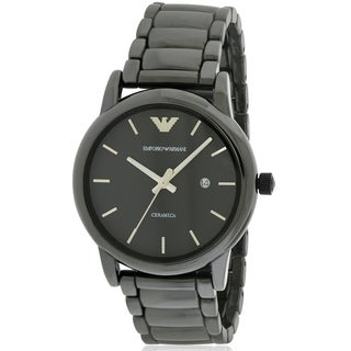 Emporio Armani Black Stainless Steel Mens Watch AR1508