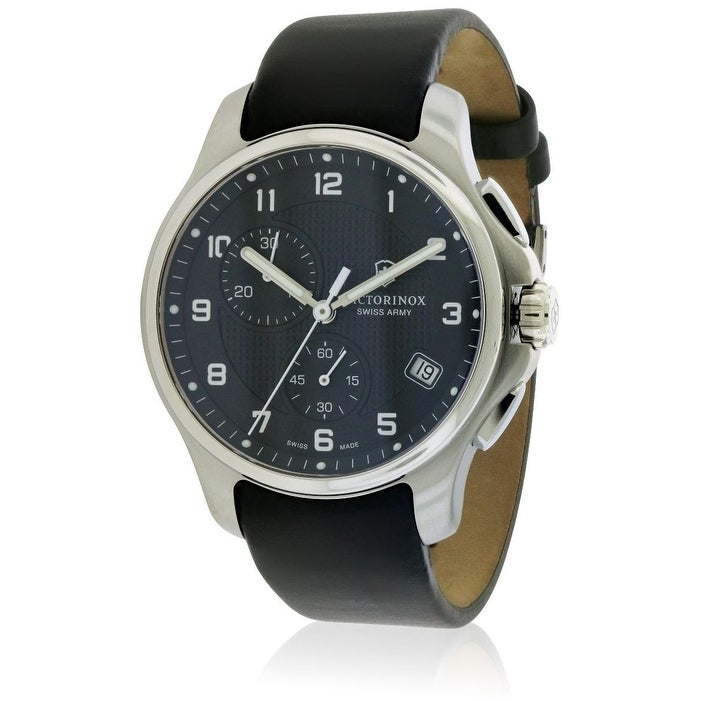 Swiss Army Victorinox Officers Leather Chronograph Mens W...