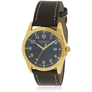 Swiss Army Victorinox Infantry Leather Mens Watch 241645