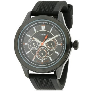 Timex Silicone Chronograph Mens Watch