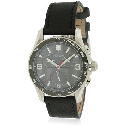Swiss Army Victorinox Chrono Classic Leather Chronograph Mens Watch 241657