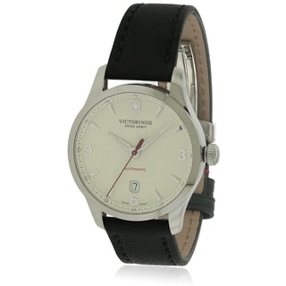 Swiss Army Victorinox Alliance Mechanical Automatic Leather Mens Watch 241666