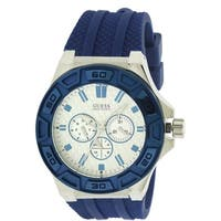 GUESS Blue Silicone Mens Watch W0674G4