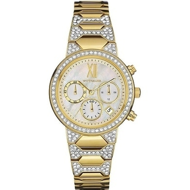 Wittnauer Crystal-Accent Gold-Tone Chronograph Ladies Wat...