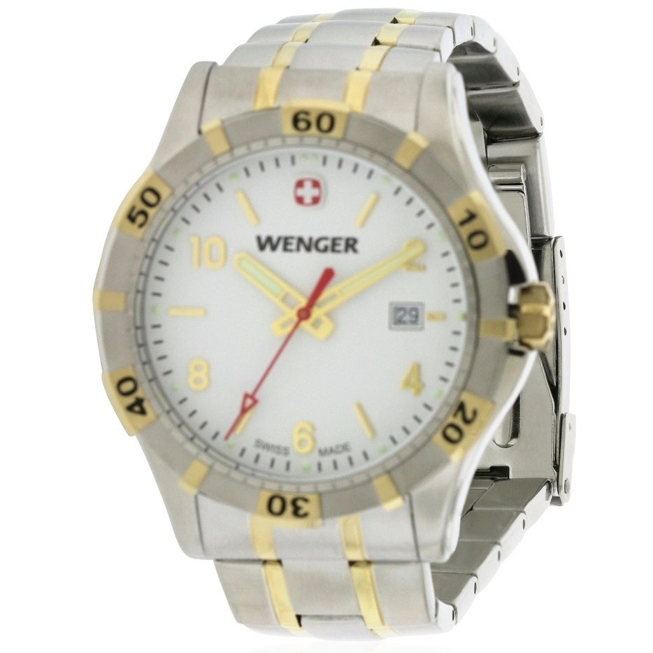 Wenger Platoon Mens Watch 0941.105, White, Size One Size ...
