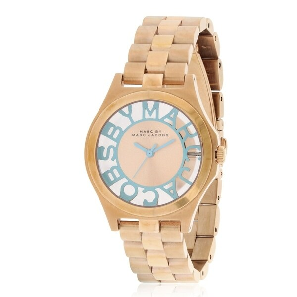Shop Marc by Marc Jacobs Henry Rose Gold Tone Ladies Watch MBM3296 Free Shipping Today Overstock