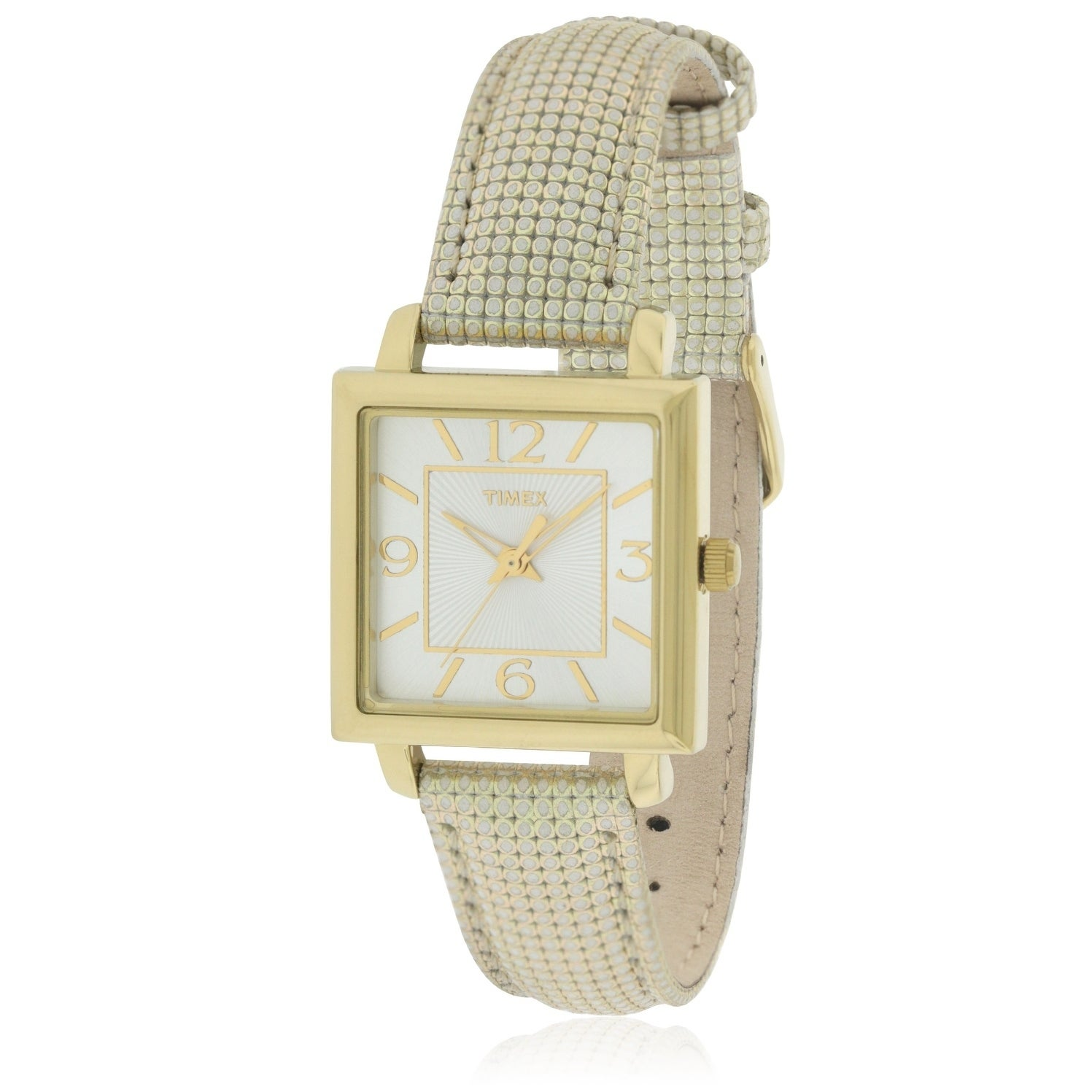 Timex Elevated Classics Leather Ladies Watch T2P379, Gold...