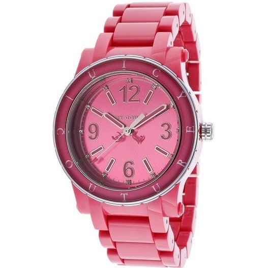 Juicy Couture HRH Hot Pink Acrylic Ladies Watch 1900804, ...
