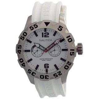 Nautica White Rubber Mens Watch N16603G