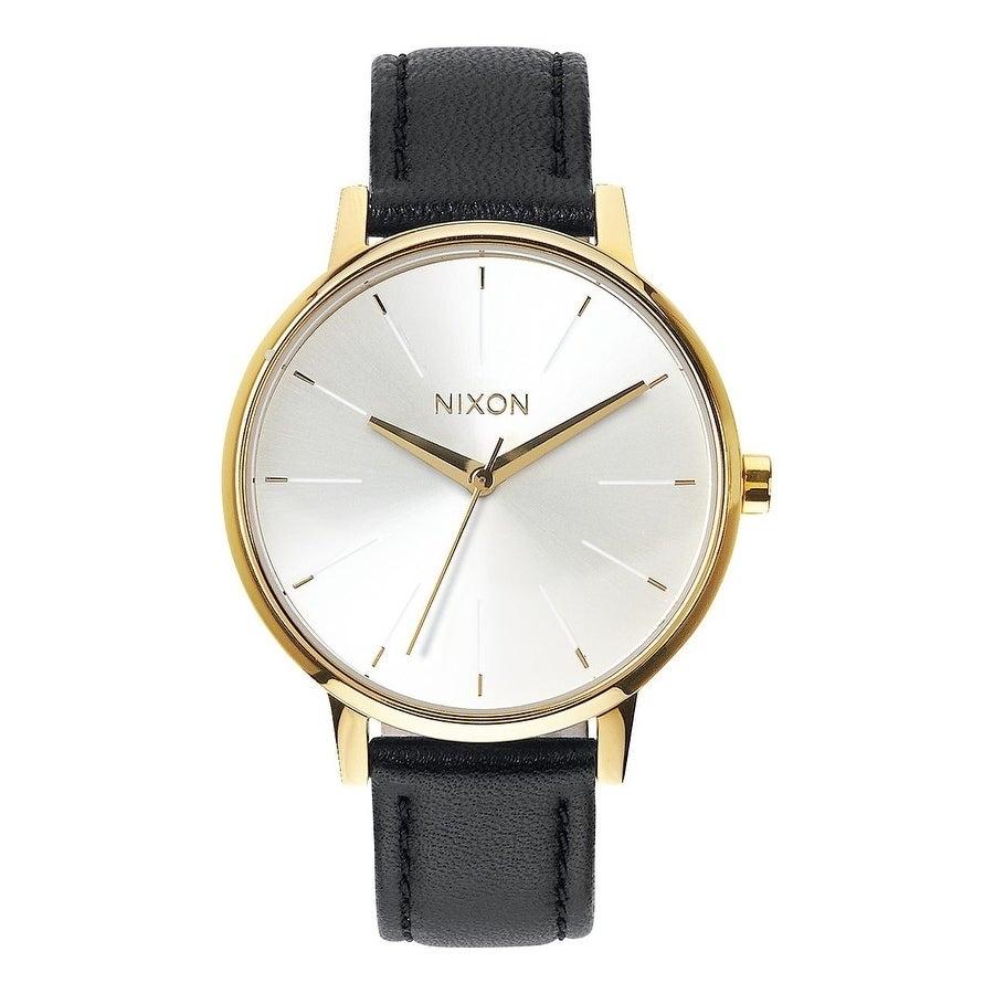Nixon Kensington Leather Ladies Watch A1081964-00, Gold, ...