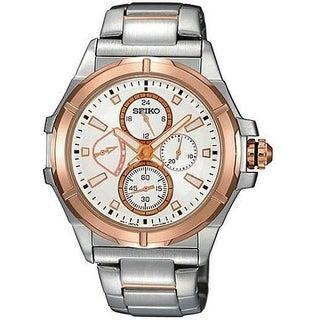 Seiko Two-Tone Retrograde Mens Watch SRL034