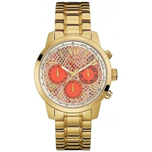 Guess Gold-Tone Chronograph Ladies Watch W0330L11, Gold, ...