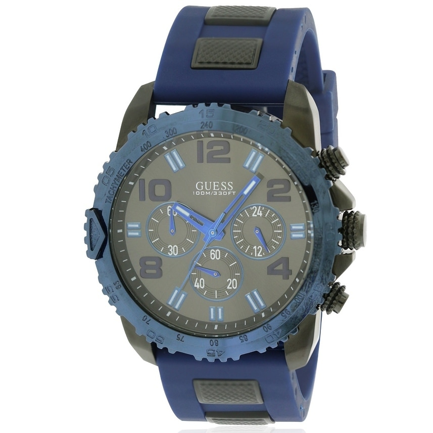 Guess Silicone Sporty Chronograph Mens Watch U0599G2, Mul...